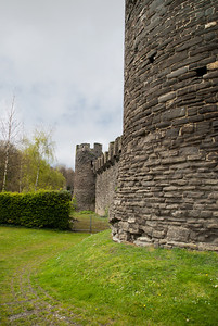 two towers and wall,Conwy