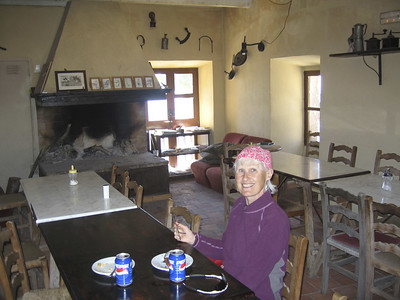 Refreshments at a mountain hut