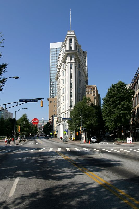 The flatiron building in Atlanta Georgia.