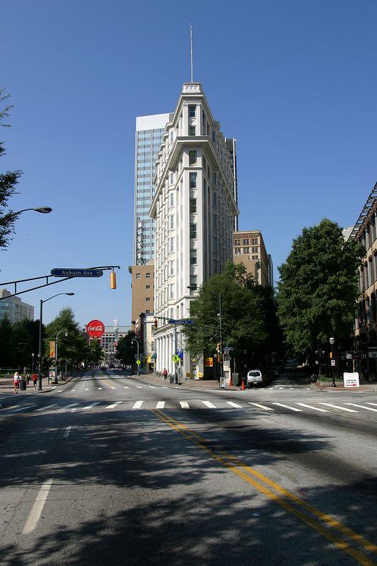 The flatiron building in Atlanta Georgia.