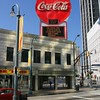 Atlanta Georgia is the home of Coca-Cola and this is one of their larger signs downtown.