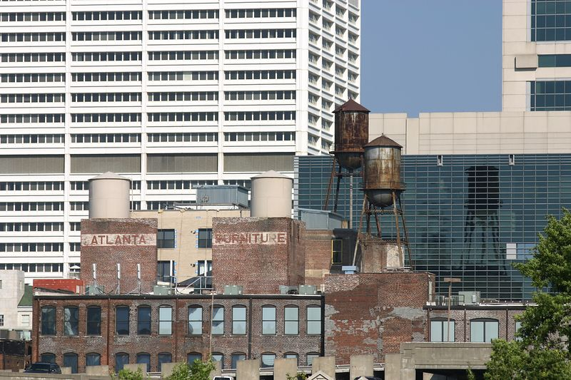 I dig water towers and really liked the Atlanta Furniture signage.