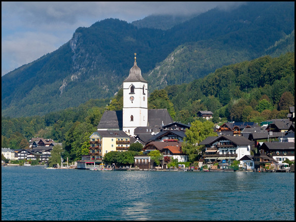 St Wolfgang from the water