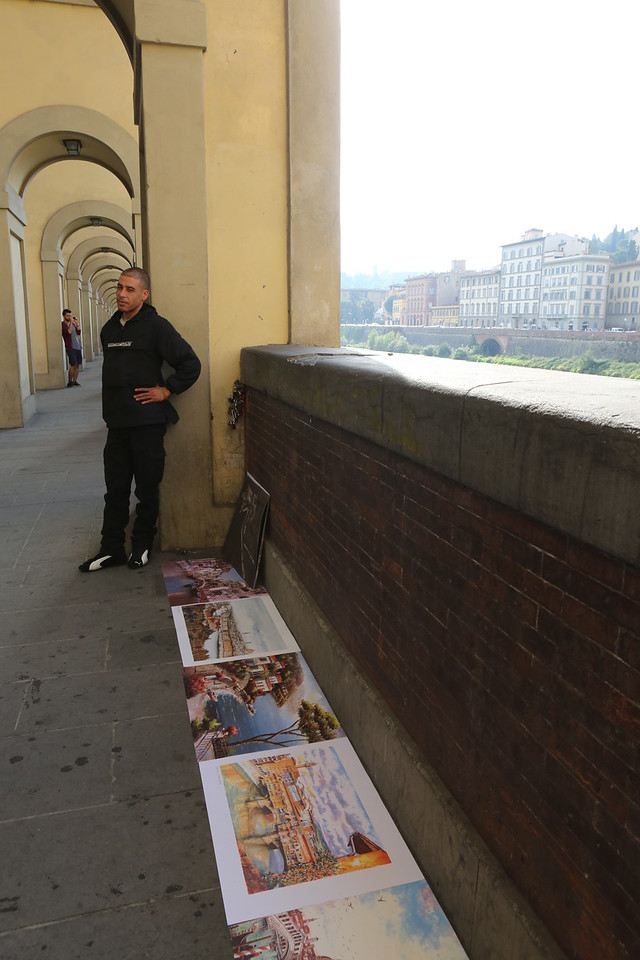 Print art (copies of scenes of Italy and art) is for sale - often near museums and galleries.