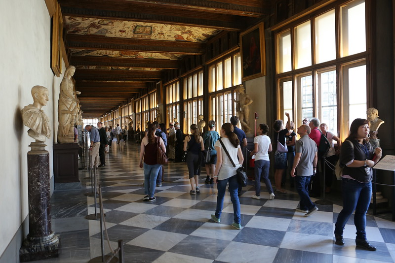 The magnficent Uffizi - take a walking journey in time.