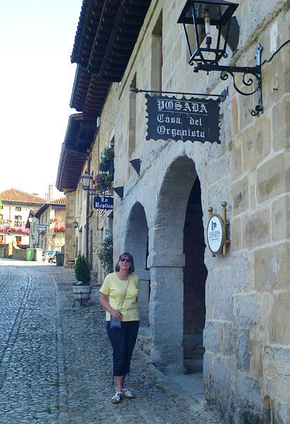 Our comfy hotel in Santillana.