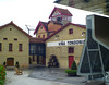We finally bought some wine at this eccentric bodega. The modern structure on the right is the tasting and sales centre.