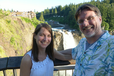 Us at Snoqualmie Falls