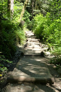 The path up to Wallace Falls