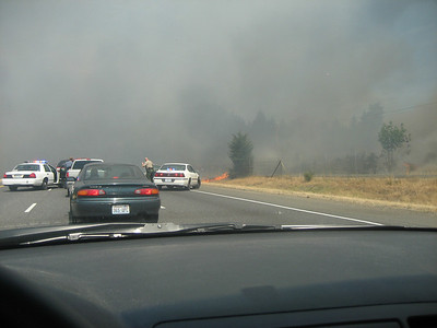 Fire on I5 on Way to Walupt Lake