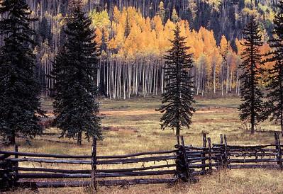 Autumn along the Durango-to-Silverton 'Million Dollar Highway', CO