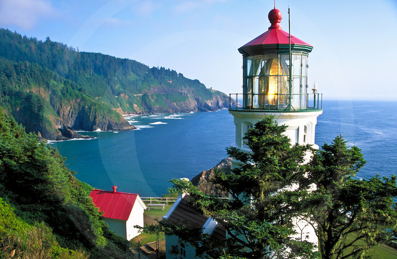Hecita Head Lighthouse, Oregon Coast, USA