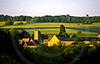 Cotswold farm near Snowshill, the Cotswolds, England