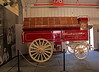Anheuser-Busch Wagon on display in the breeding room.