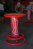 "A Budweiser ""spool"" table where visitors, after the tour, can sit and partake of a free beer (if you are of legal age)."