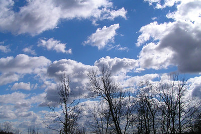 Some clouds. This is my view outside my window at Natarshas place.