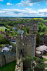 Warwick Castle : Warwick Castle (i/ˈwɒrɪk/ worr-ik) is a medieval castle in Warwick, the county town of Warwickshire, England. It sits on a bend on the River Avon. The castle was built by William the Conqueror in 1068