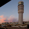 Control tower at Reagan National Airport in D.C. from the Metro terminal.