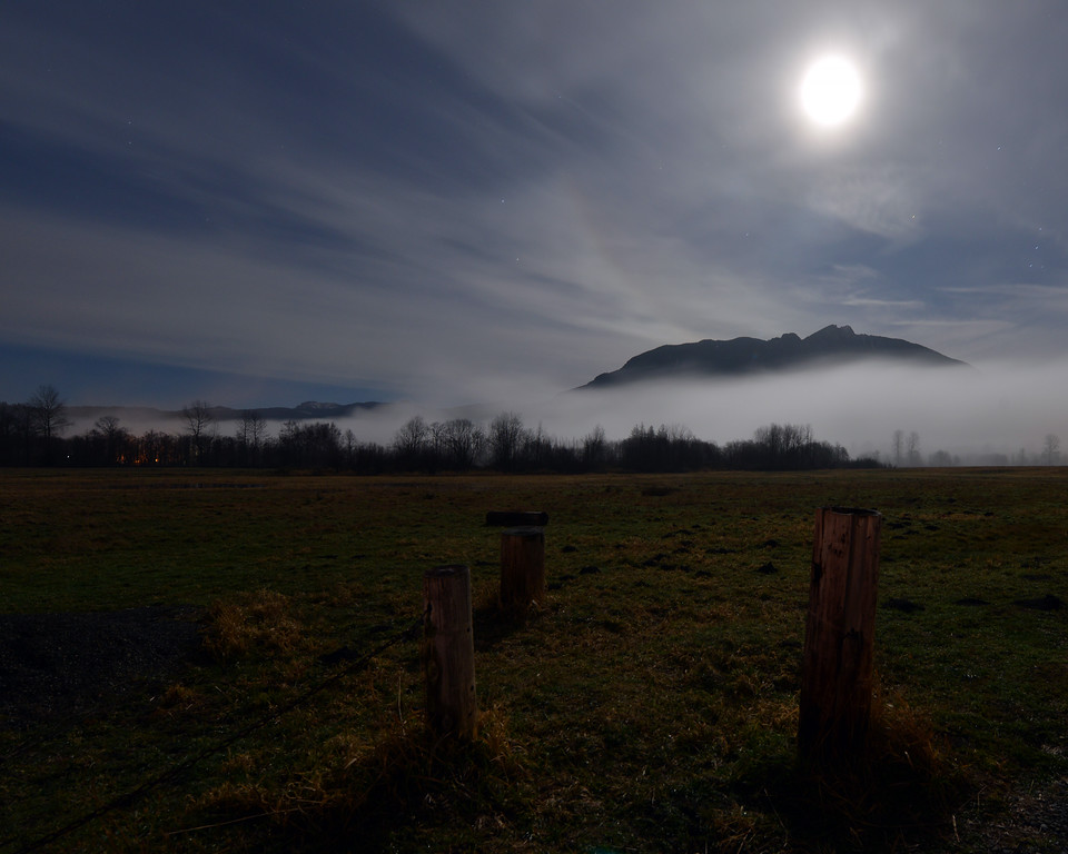 Moon over Mount Si