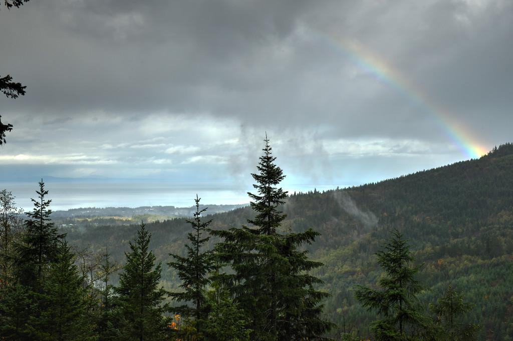 Rainbow over Port Angeles