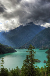Ross Lake Sunbeams, North Cascades