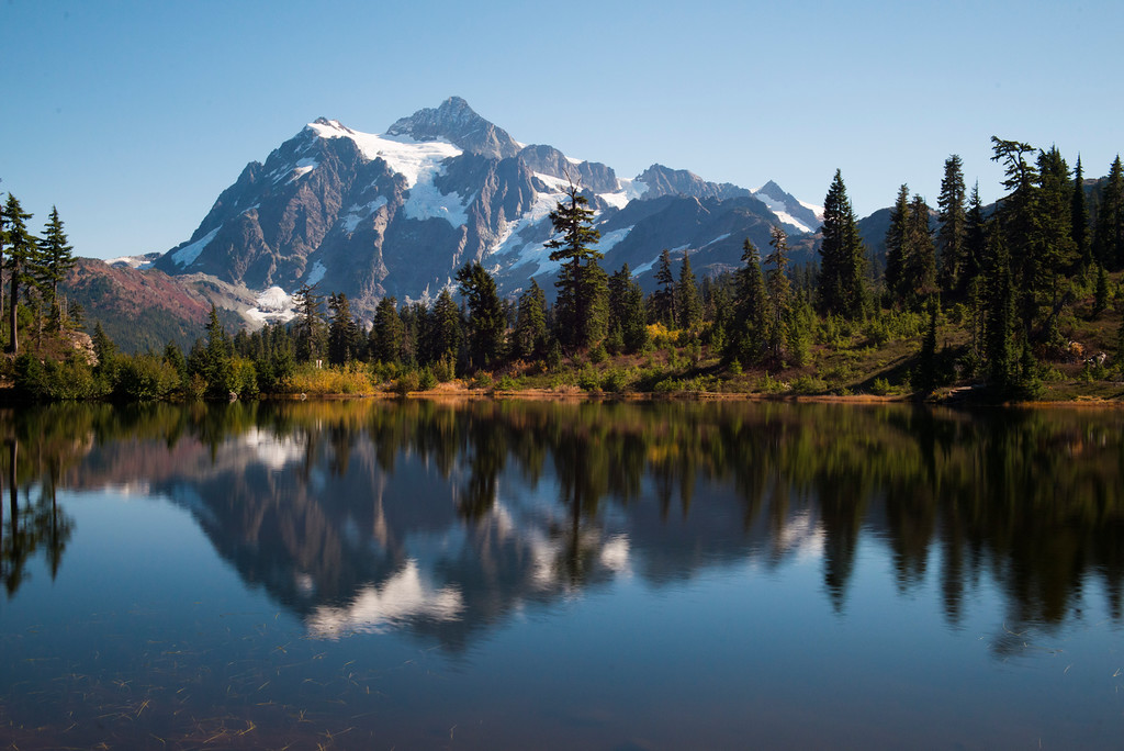 Mount Shuksan from Picture Lake