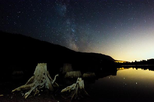 Milky Way over Rattlesnake Lake