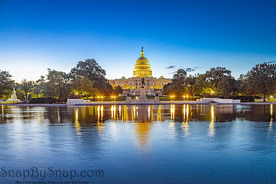 The Capitol of the United States with the capitol reflecting pool