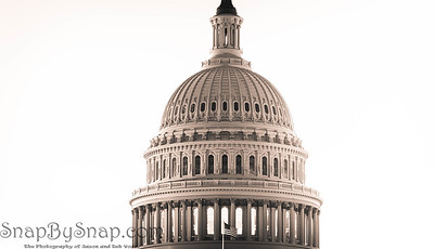 Panoramic image of the dome of the Capitol building of the United States
