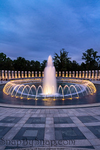 The fountain of the World War II Memorial