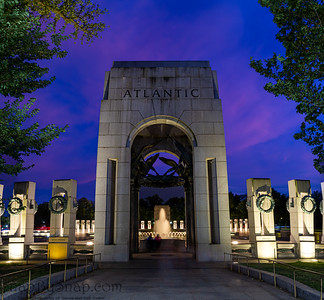 A Panorama of the Atlantic Pavilion of the World War II memorial