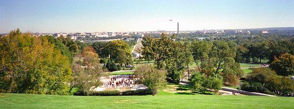 Washington skyline, Arlington