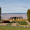 The main lodge building at Cave B Inn overlooks the upper Columbia river in Sagecliffe, WA