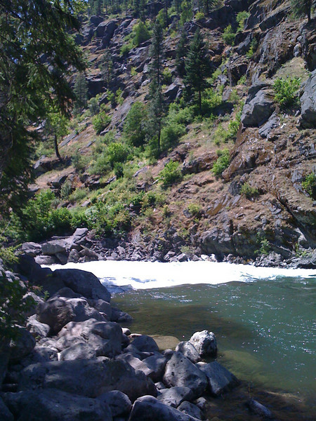 Some class-something rapids on the Wenatchee.