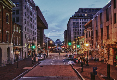 Street in Washington D. C. in HDR.