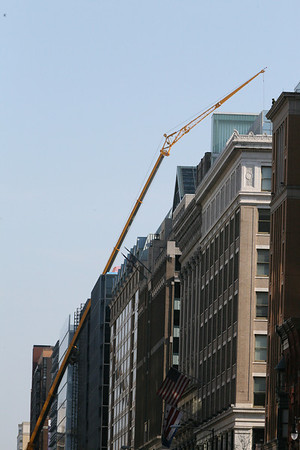 A Tall Crane on Narrow Street, DC