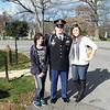 Kelsey and Erika with Sgt. Hall, 3rd Infantry
