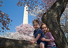 Sarah and Ethan at the Washington Monument