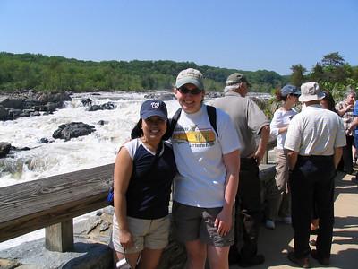 Kirsten and me at Great Falls Park.