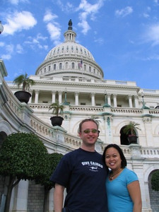 Kirsten took this photo of Rick and me at the Capitol Building.
