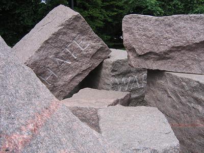 The Franklin D Roosevelt monument