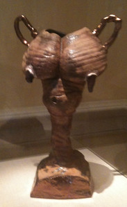 """Breast Trophy."" Robert Arneson, Benicia, CA. Smithsonian American Art Museum, Renwick Gallery, Washington DC."