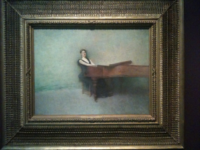 The Piano. 1891. Thomas Wilmar Dewing. Freer.