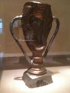 """Foot Trophy."" Robert Arneson, Benicia, CA. Smithsonian American Art Museum, Renwick Gallery, Washington DC."