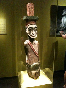 Veranda post Ekiti Nigeria. Wood paint. Mid to late 19th c. Smithsonian Museum of African Art.