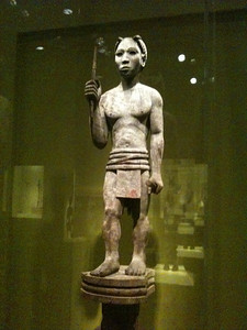 Top section of a Madagascar funerary sculpture early 20th c. Smithsonian Museum of African Art.