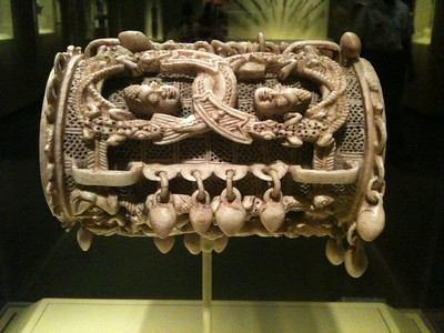Bracelet. Owo region Nigeria. 16th c. Ivory. Smithsonian Museum of African Art.