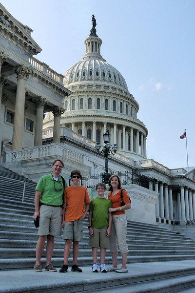 Family, on the front steps to the Capitol