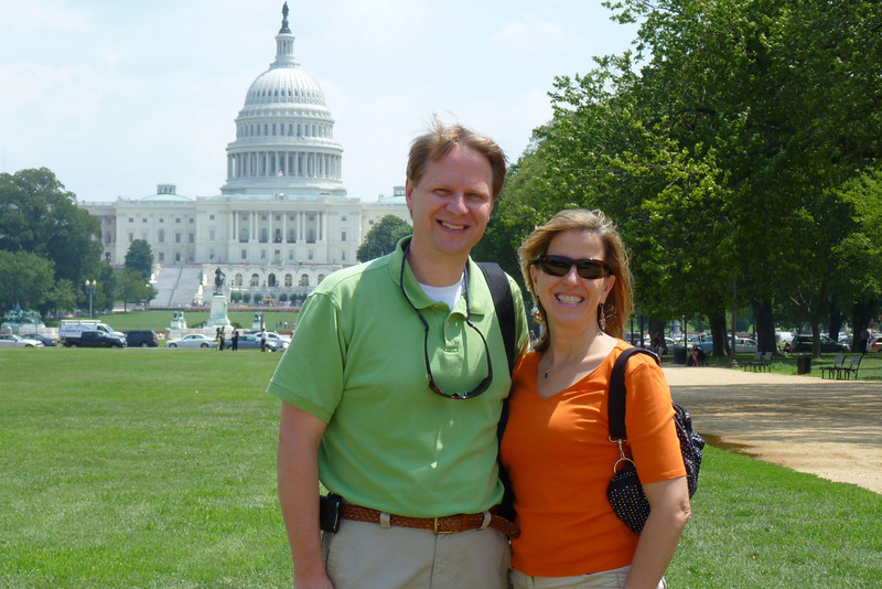 Scott & Elizabeth, with the Capitol behind