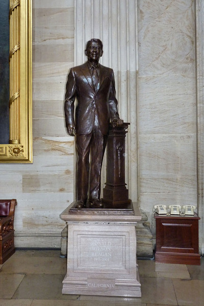 Ronald Reagan Statue, in the Rotunda